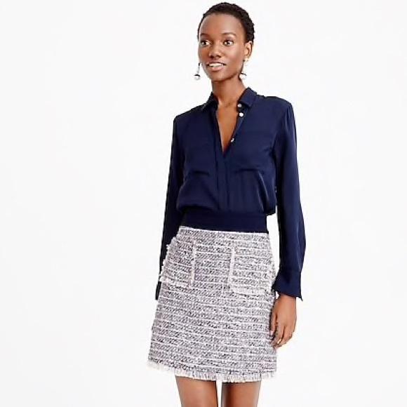 J. Crew Dresses & Skirts - J.Crew Multicolored Tweed Mini Skirt With Pockets